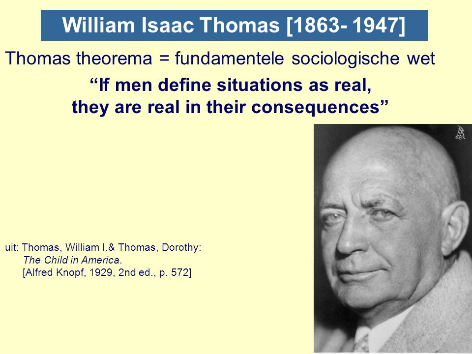 William Isaac Thomas [1863- 1947]